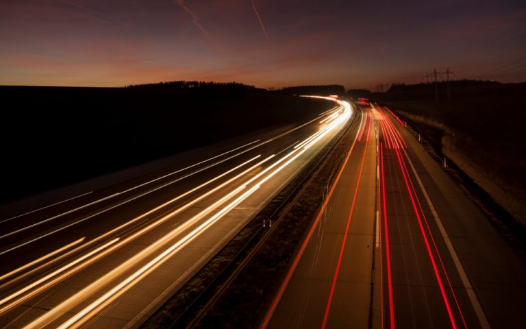 Time lapsed road